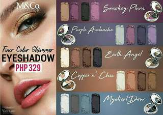 M&Co's Four Color Shimmer Eyeshadow Palettes