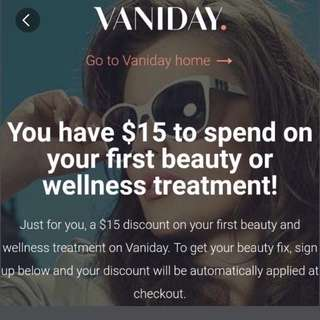 #blessing Vaniday $15 credit when you open an account!