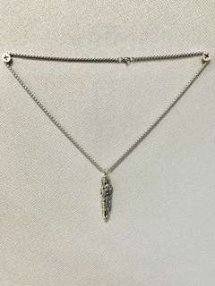 Silver bullet necklace chain