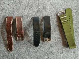 Leather Strap 20mm Vintage Watch
