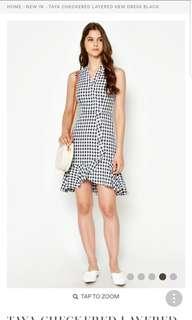 Love and Bravery Taya Checkered Layered Hem Dress