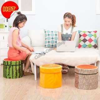 Fruit design ottoman storage chair