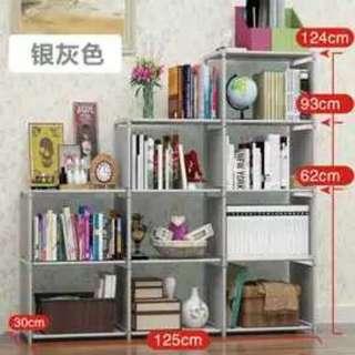 2+3+4 Tier Non-Woven Dust Shelves Children's Bookshelf