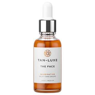 Tan luxe face illuminating self tan drops light/medium