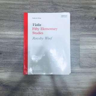 (HALF PRICED) Violin Practice Books