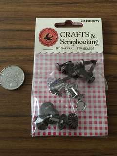 Fasteners for Scrapbooking or Craft design