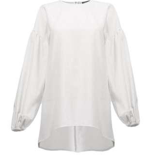 Zenobia Lantern Sleeve Blouse - White