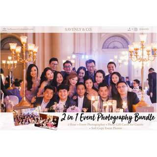 2-IN-1 Event Photography Bundle Package  for Weddings, Baby Showers, Birthdays, Corporate Events, and many more!