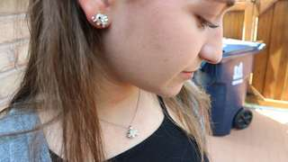 Elephant necklace and earrings
