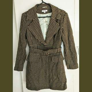 Wool Long Trench Like Belted Jacket / Coat 14
