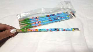 Disney Stitch & Angel Pencil with Eraser Ruler