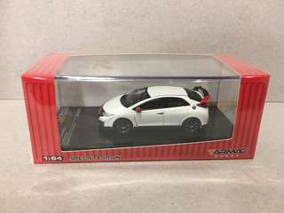 Tarmac Works 1:64 Honda Civic Type R FK2 Modulo White