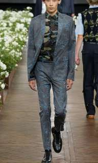 Dior homme Runway gray with blue pattern jacket
