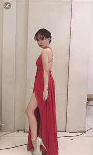 Red long gown (for rent)