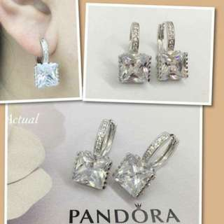 Pandora Princess Drop Earrings