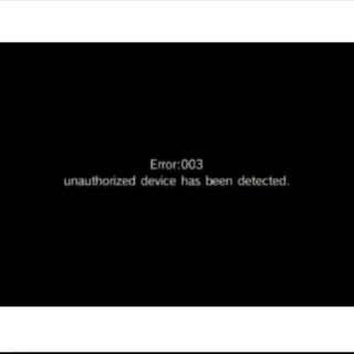 Wii repair error 003