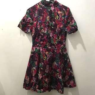 Nastygal floral jumpsuit