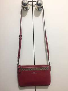 Coach - Red crossbody bag