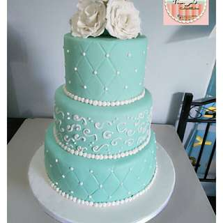 Wedding cake in Mint green