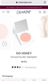 Colourpop highlighter - go honey (pink shimmer)
