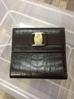 Authentic Vintage Salvatore Ferragamo Crocodile Wallet