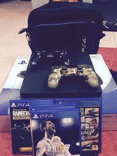 ps4 jet black 500gb rm1500 free 2 controller, and 4 game before 10 jun 2018 promotion