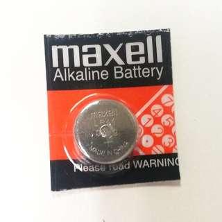 maxell LR44 A76 1.5V Alkaline Battery 鈕扣電池鈕扣電芯電池餅鹼性電池鹼性電芯