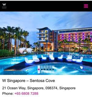 W Sentosa Stay over F1 weekends