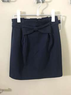 Iroo navy blue skirt