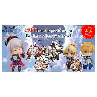 *PROMOTION* Buy a Fate Series Nendoroid and get a FREE Strap + 10% Rebate