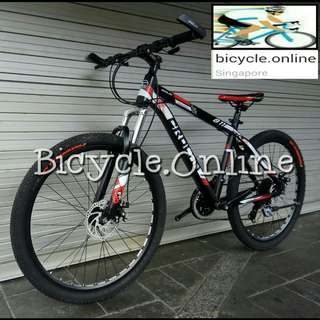 "26"" Aluminum Mountain Bike / CROLAN MTB ✩ 24 Speeds, Disc Brakes, front suspension ✩ Brand new bicycles"