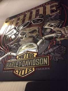 Harley Davidson Embossed Tin Sign. Motorbike. Poster