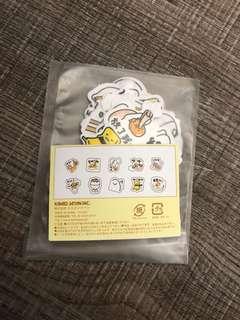 Cute gudetama line panda stickers