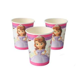 💕 Premium Range Princess Sofia party supplies - party cups