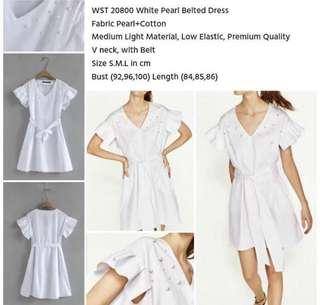 pearl white dress