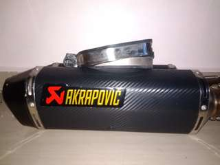 Akrapovic exhaust(hayabusa 2008 above)