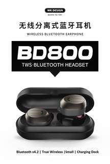 WK BD800 True Wireless Bluetooth Mini TWS Twin Earbuds Earpiece Headset
