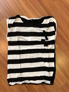H&M bnw top