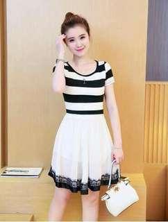 Stripes Black & White Dress