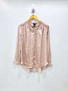 H&M Silky Peach Top - Preloved, Excellent Condition