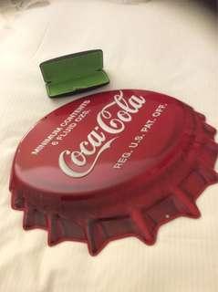 Coca Cola Embossed Tin Signage Poster Cap