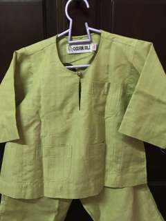 Omar Ali Baju Melayu Baby (light green) 03size