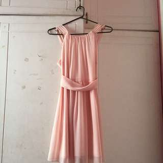 Peach Bridesmaids Dress