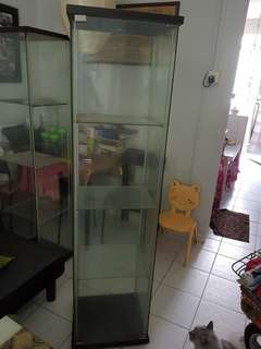 3 tier glass showcase