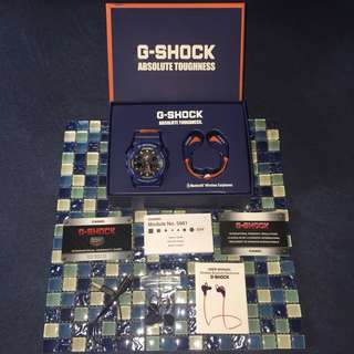 Casio G-Shock GA100L-2ABUD ~ Macy's Limited Edition Exclusive Men's Gift Set