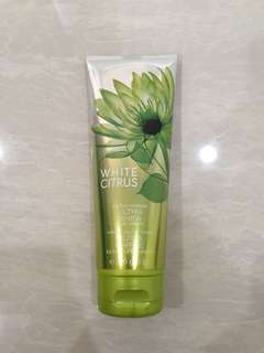 White citrus body cream