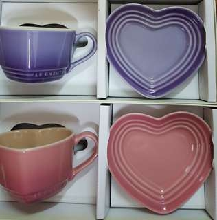 Le creuset Heart cup and saucer