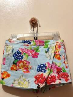 Gingersnap Floral Mini Skirt