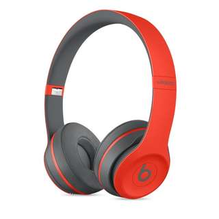 Beats Solo3 Wireless On-Ear Headphones Special Edition Electric Red Solo 3