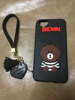 Iphone 6/6S case line friends brown 布朗熊 手機保護殻 黑色
